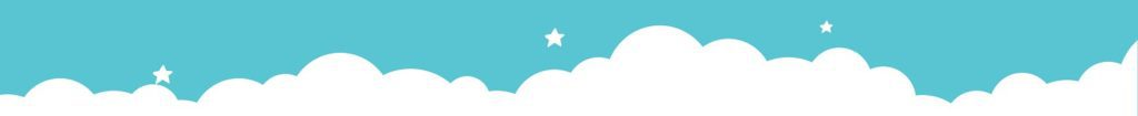 Learning club blue cloud with stars header